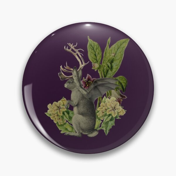 Jackalope Vespertilio (purple) Pin