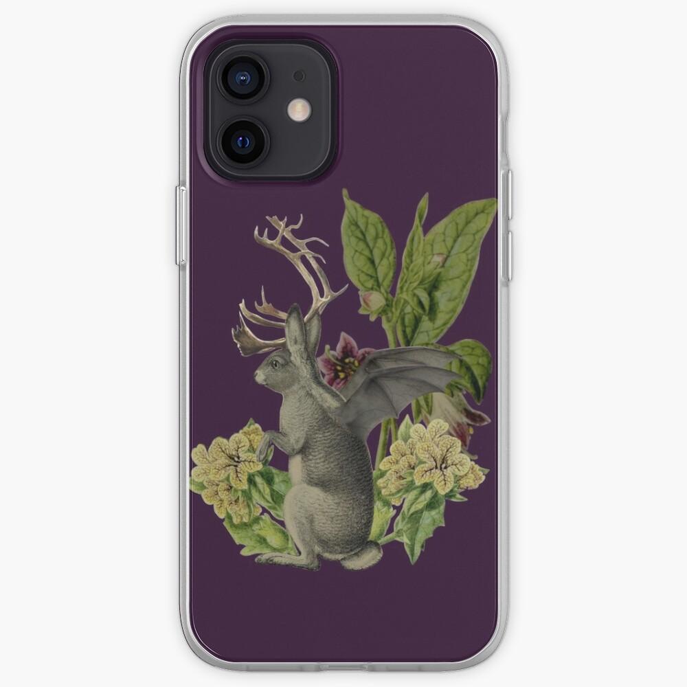 Jackalope Vespertilio (purple) iPhone Case & Cover