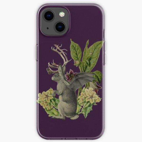 Jackalope Vespertilio (purple) iPhone Soft Case