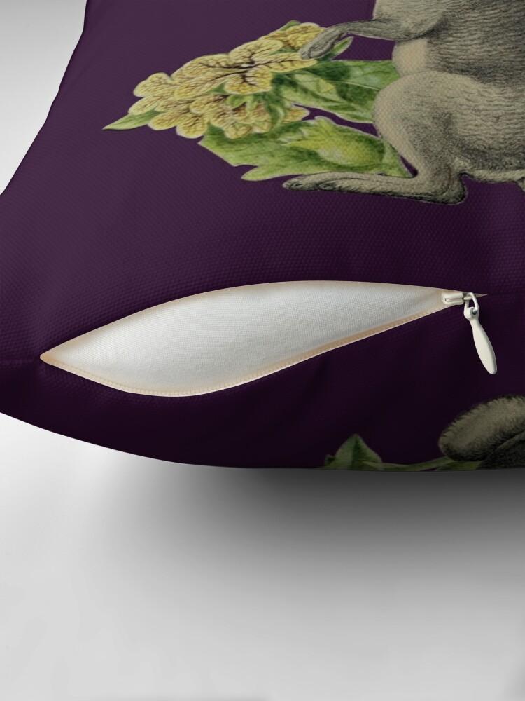 Alternate view of Jackalope Vespertilio (purple) Throw Pillow
