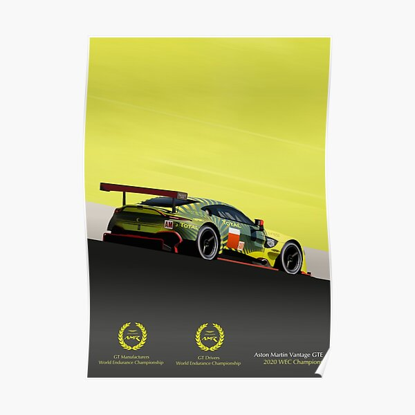 Champions Aston Martin Vantage GTE 2020 Poster