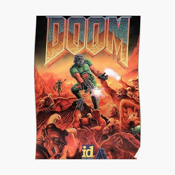 DOOM GAME BOX COVER Classique Poster