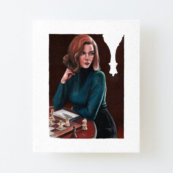 Beth Harmon - Le jeu de la Dame Impression montée sur toile