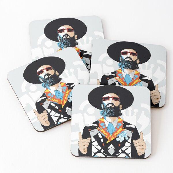 No one but him | Modern and original jewish art Coasters (Set of 4)