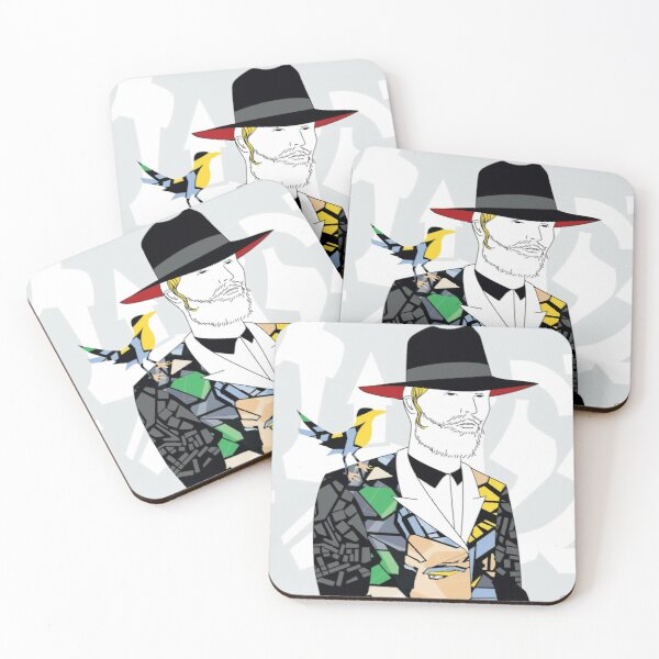 Hassidic with style | Modern and original jewish art Coasters (Set of 4)