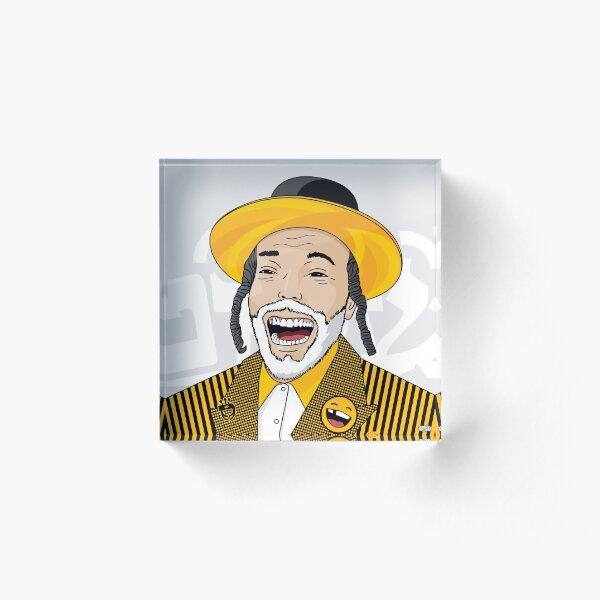 I can laugh - funny, smile   Modern and original jewish art Acrylic Block