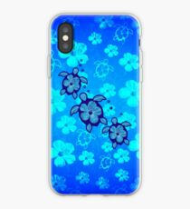 3 Hawaiian Honu And Hibiscus iPhone Case