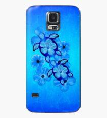 Blaue hawaiische Honu Schildkröten Hülle & Klebefolie für Samsung Galaxy