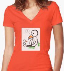 Penguin baby Women's Fitted V-Neck T-Shirt