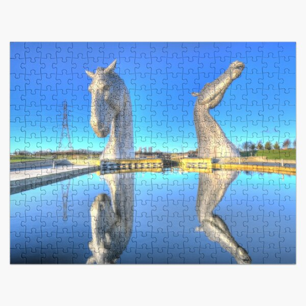 the Kelpies , Helix Park , the Kelpies are the largest equine sculptures in the world Jigsaw Puzzle