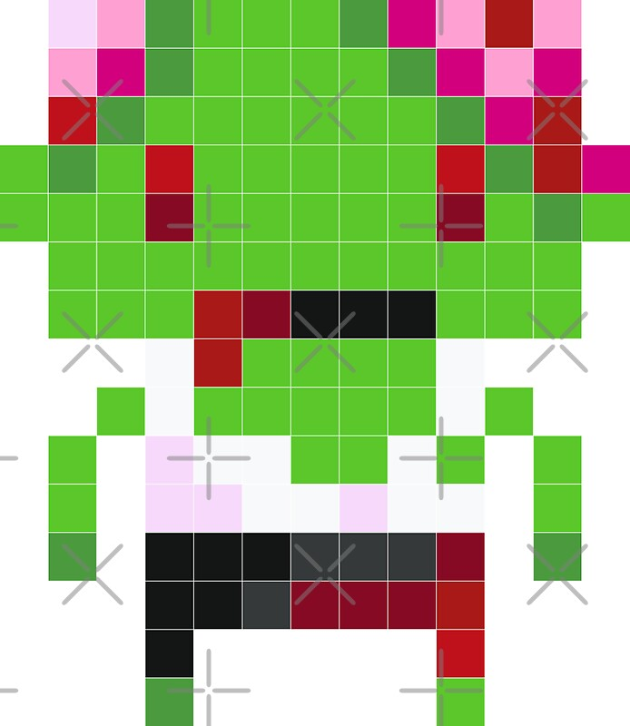 """Pixel Art Zombie"" Stickers By Jaredfin"