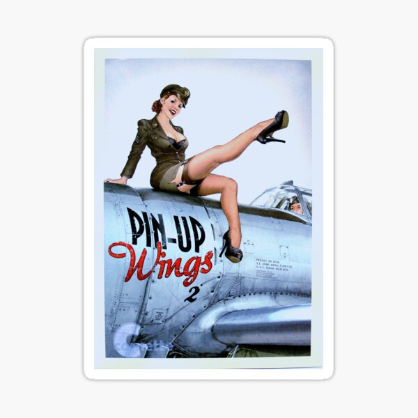 Pinup Wings Girlie WWII Nose Art Gams Sticker