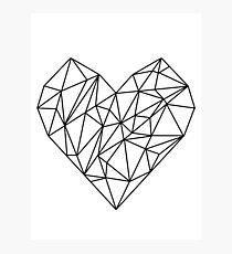 Geometrisches Herz Fotodruck