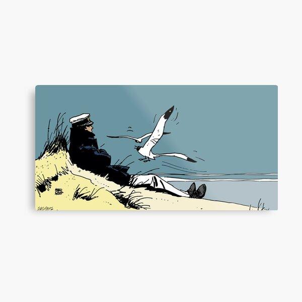 Corto Maltese on the shore Metal Print