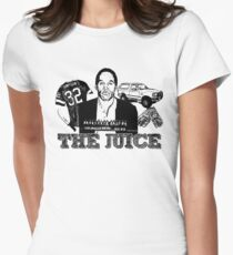 Sketchy OJ! Women's Fitted T-Shirt