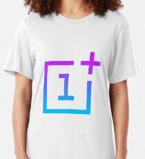 OnePlus Logo - Retro Style Slim Fit T-Shirt