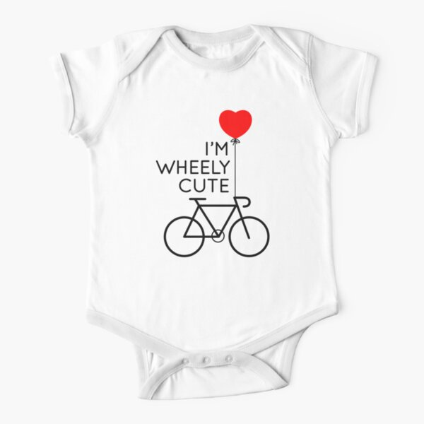 I'm Wheely Cute Bicycle Cycling Print Short Sleeve Baby One-Piece