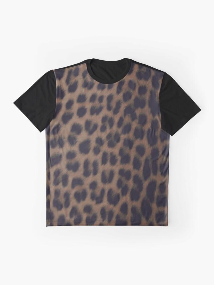 Alternative Ansicht von Einfarbiger Leopard-Druck Grafik T-Shirt