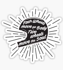 Bikers Quote Sticker