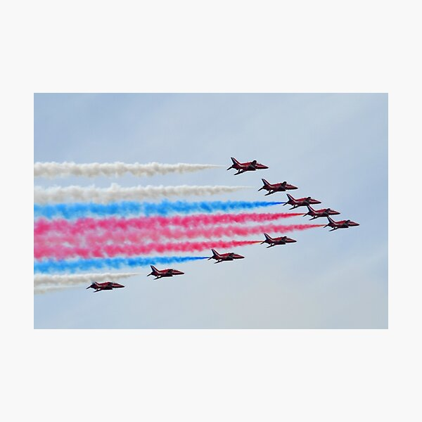 Red Arrows Over Lyme, Dorset.UK Photographic Print