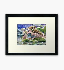 The End of a Perfect Day in Greens Framed Print