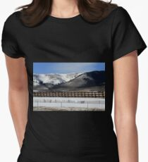 Behind The Snow Fence Womens Fitted T-Shirt
