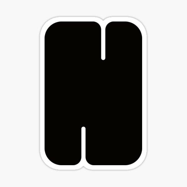 Very Bold Letter N Sticker