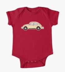 VW, Volkswagen, Beetle, Bug, Motor, Car, Cream One Piece - Short Sleeve