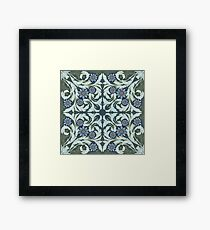 Mosaic flowers pattern Framed Print