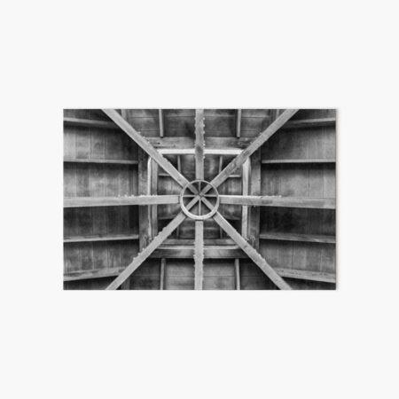 Inside of Pavilion Timber Ceiling Art Board Print