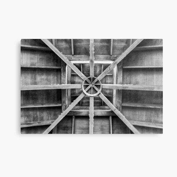 Inside of Pavilion Timber Ceiling Metal Print