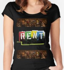 RENT the musical! Women's Fitted Scoop T-Shirt