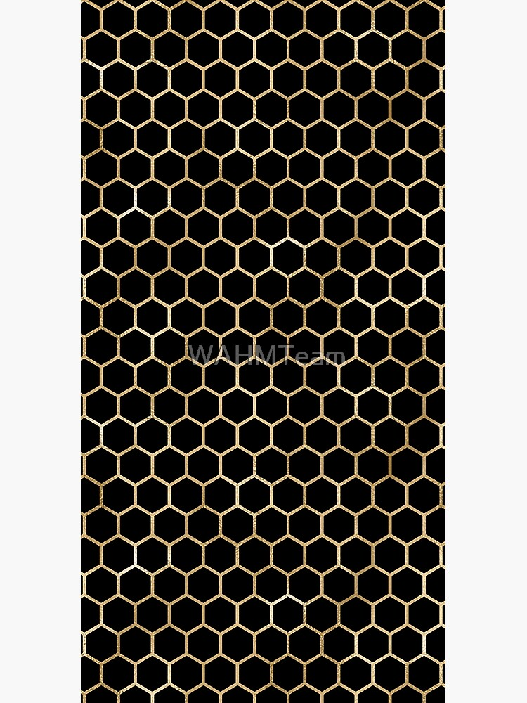 Black and Gold Geometric Design by WAHMTeam