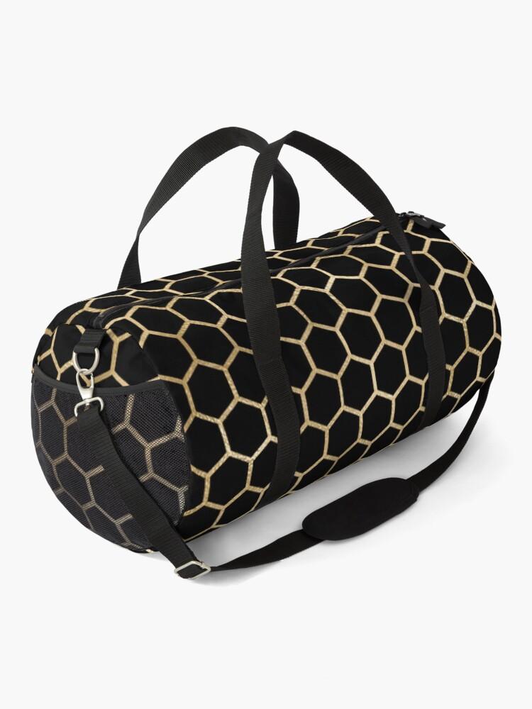 Alternate view of Black and Gold Geometric Design Duffle Bag