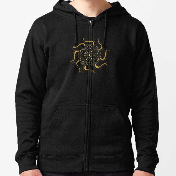 gold abstract artwork Zipped Hoodie