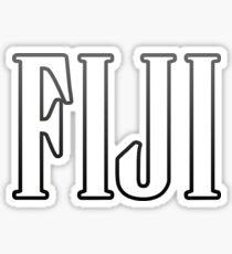 FIJI BLACK Sticker