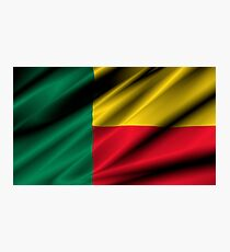 flag of benin Photographic Print