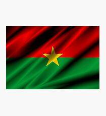 flag of burkina faso Photographic Print