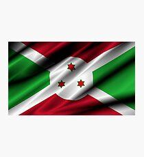flag of burundi Photographic Print