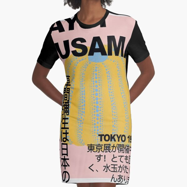Yayoi Kusama Poster Graphic T-Shirt Dress