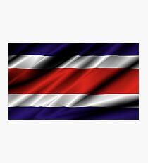flag of costa rica Photographic Print
