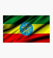 flag of ethiopia Photographic Print
