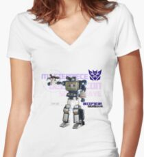 Transformers G1 Soundwave Women's Fitted V-Neck T-Shirt
