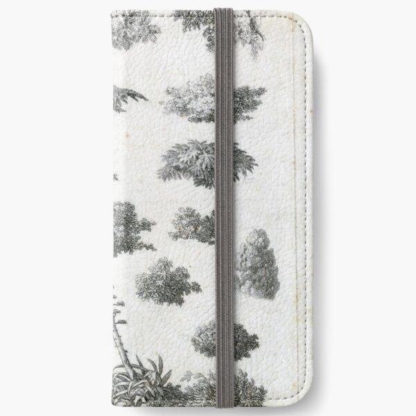Vintage Foliage Studies Print iPhone Wallet