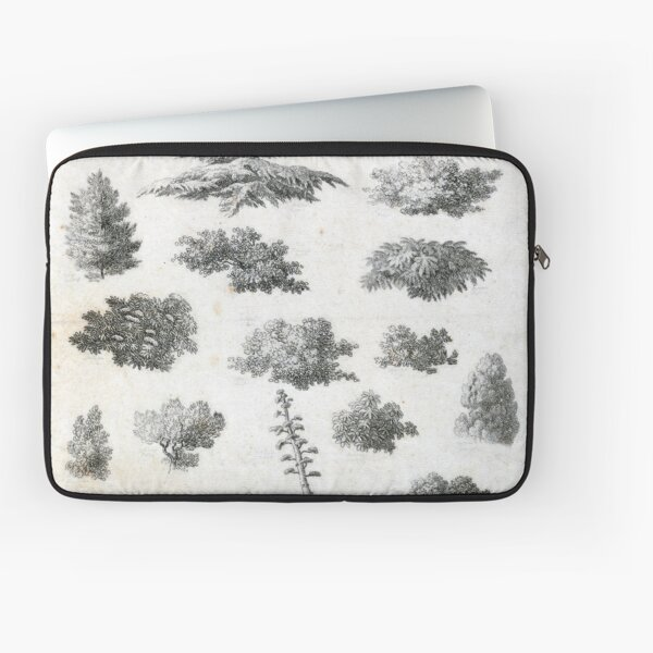 Vintage Foliage Studies Print Laptop Sleeve