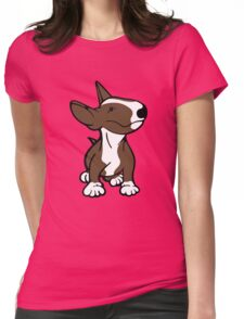 English Bull Terrier Pup Brown  Womens Fitted T-Shirt