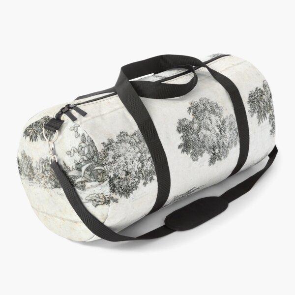 Vintage Foliage Studies Print Duffle Bag