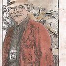 The Self Portrait of My self  in my Artist Uniform by David M Scott