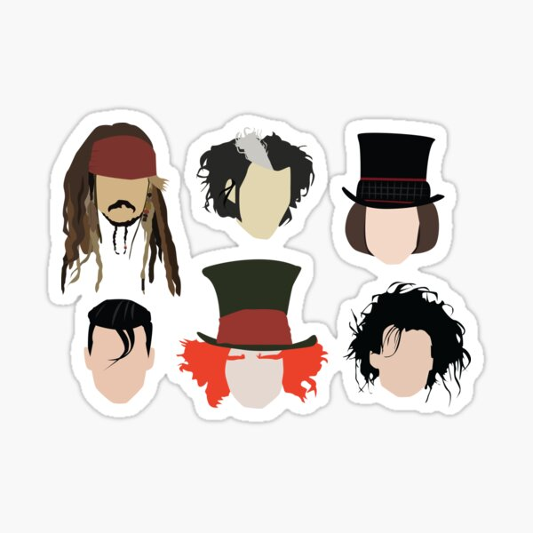 Johnny Depp - Famous Characters Sticker