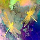 Yellow Dragonflies by Vitta